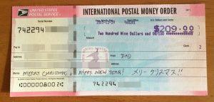 海外からの送金方法 アメリカ国際郵便為替を日本円に換金する